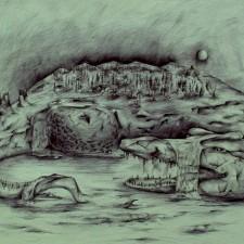 """Каспакбаева Яна, из серии """"Лики природы"""", цв. картон. тушь; руководитель: Утепова А. Ш."""