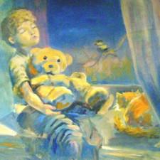 """Яковлева """"Ожидание"""" х., масло; руководитель: Чунчалинов А. К."""