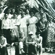 Ученики на пленэре 1988 г.г.