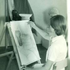 На занятии по Рисунку