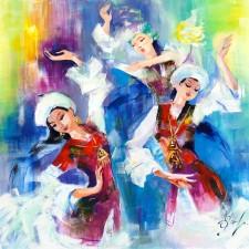"""Еремина Екатерина, """"Би""""/""""Танец"""", х. акрил. Рук-ль: Чунчалинов А. К."""